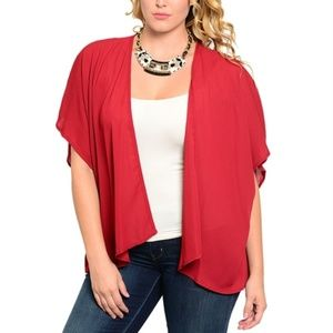 Sweaters - 🆕️Final Clearance Sale Red Plus Throw On
